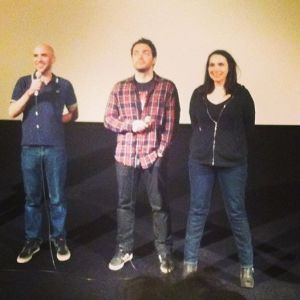 Les réalisateurs Alexandre Bustillo, Julien Maury et Béatrice Dalle.
