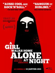 A girl walks home alone at night affiche